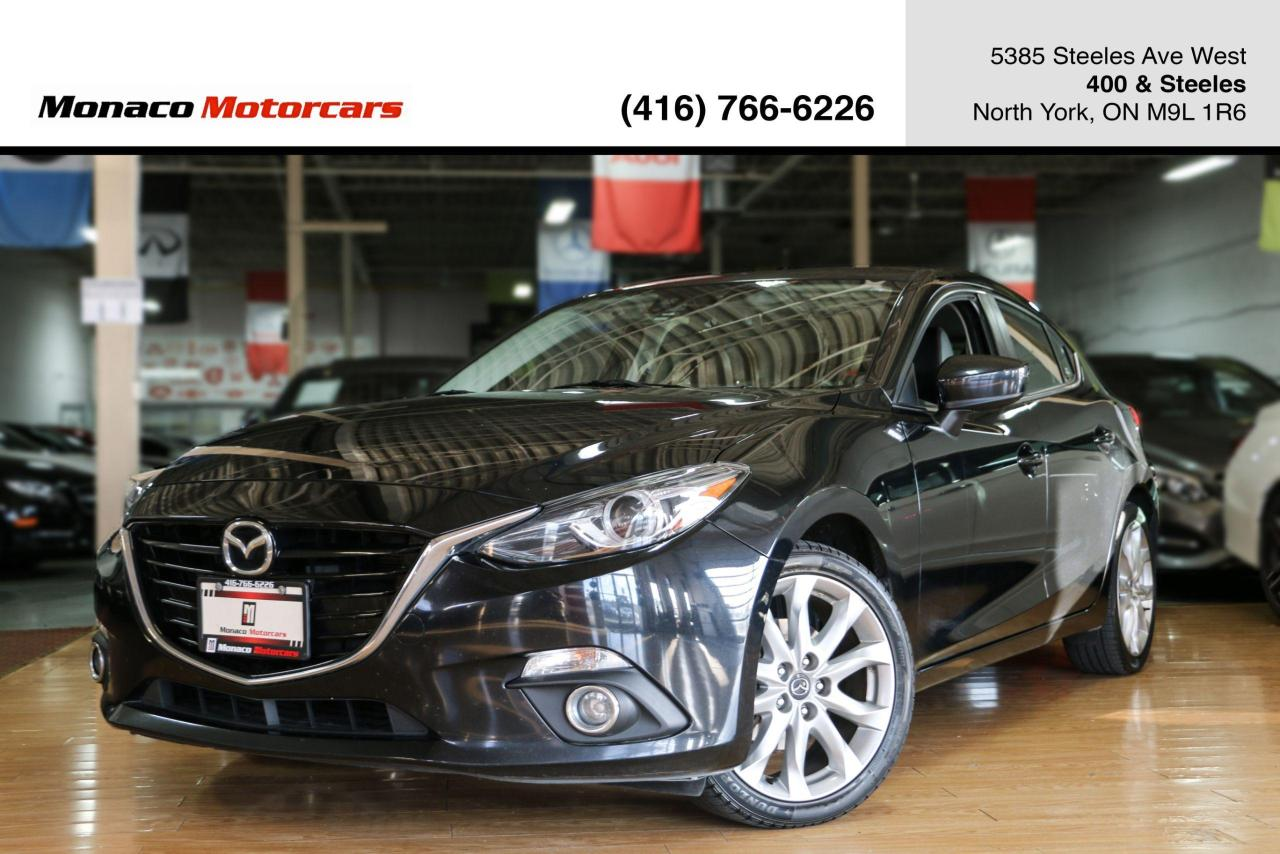 used 2014 mazda mazda3 hb gt - headsup sunroof navi backup leather for sale in north york, ontario carpages.ca