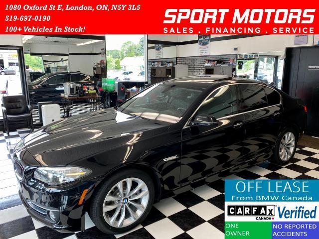 2016 BMW 5 Series 528i+Camera+Sensors+New Tires+Accident Free
