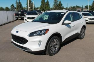 New 2020 Ford Escape Titanium Hybrid 400A AWD 2.5L I4 with Heated Leather Seats, Heated Steering Wheel, Lane Keeping System, Pre-Collision Assist, Navigation, Remote Keyless Entry, Remote Vehicle Start, Reverse Camera Sy for sale in Edmonton, AB