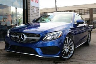 Used 2017 Mercedes-Benz C-Class C300 4M Coupe, PanoRoof, Navi, Cam, Low KM's, Clean for sale in North York, ON