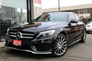 Used 2016 Mercedes-Benz C-Class C300 4M, Red Int, Navi, Cam, PanoRoof, Low KM, Sensors for sale in North York, ON