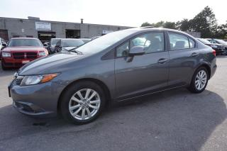 Used 2012 Honda Civic LX CERTIFIED 2YR WARRANTY BLUETOOTH SUNROOF CRUISE ALLOYS AUX for sale in Milton, ON