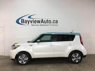 Used 2017 Kia Soul EV EV Luxury - HTD/COOLED LEATHER! SUNROOF! NAV! NO MORE FUEL!! for sale in Belleville, ON