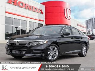New 2020 Honda Accord LX 1.5T REARVIEW CAMERA WITH DYNAMIC GUIDELINES | HONDA SENSING TECHNOLOGIES | APPLE CARPLAY™ & ANDROID AUTO for sale in Cambridge, ON