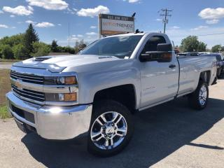Used 2018 Chevrolet Silverado 2500 HD WT Duramax 2500 Reg Cab 1 owner Immaculate! BackupCam, Bluetooth, Chrome Wheels, Integrated Trailer Bra for sale in Kemptville, ON