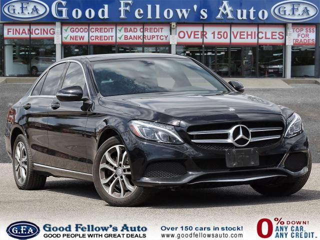 2016 Mercedes-Benz C-Class C300 4MATIC, PANORAMIC ROOF, BLIND SPOT MONITORING, NAV