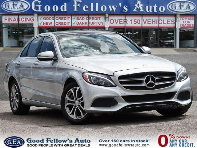 2016 Mercedes-Benz C-Class C300 4MATIC, 16V TURBO DOHC I4, PAN ROOF, NAVIGATION