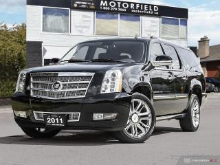 Used 2011 Cadillac Escalade ESV Platinum *Accident Free, Fully Loaded, 7 Pass* for sale in Scarborough, ON