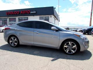 Used 2015 Hyundai Elantra LIMITED NAVIGATION CAMERA BLUETOOTH CERTIFIED for sale in Milton, ON