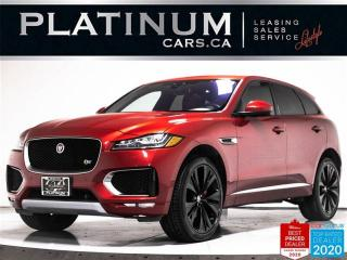 Used 2017 Jaguar F-PACE S, 380HP, NAV, PANO, CAM, HEATED SEATS for sale in Toronto, ON