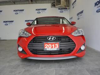 Used 2013 Hyundai Veloster 6 SPEED M/T | LEATHER | SUNROOF | NAV | TURBO |27K for sale in Brantford, ON