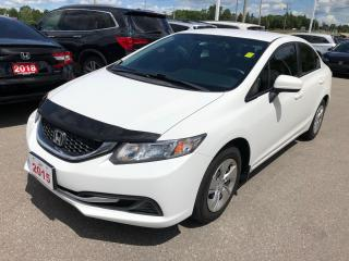 Used 2015 Honda Civic LX BLUETOOTH | REARVIEW CAMERA WITH GUIDELINES | ECON MODE for sale in Cambridge, ON