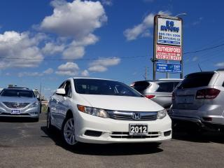 Used 2012 Honda Civic EX SUNROOF ALLOYS NO ACCIDENTS CARFAX CLEAN for sale in Brampton, ON