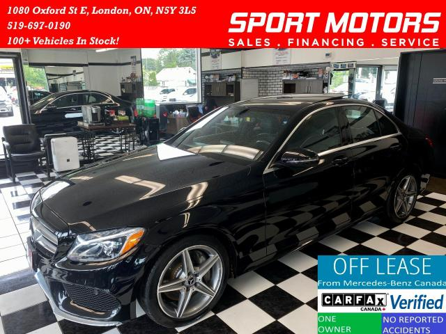 2017 Mercedes-Benz C-Class C300+4Matic+Pano Roof+Camera+AMG Pkg+Accident Free