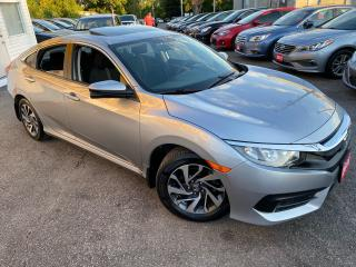 Used 2016 Honda Civic EX/ AUTO/ CAM/ SUNROOF/ ALLOYS/ BLUETOOTH & MORE! for sale in Scarborough, ON