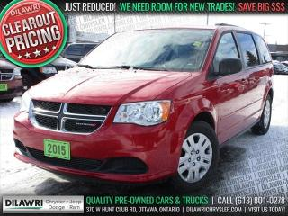 Used 2015 Dodge Grand Caravan SXT | Remote Start, Stow N Go for sale in Nepean, ON
