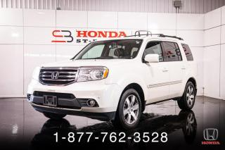 Used 2015 Honda Pilot TOURING + DVD + CUIR + 8 PASSAGERS + WOW for sale in St-Basile-le-Grand, QC