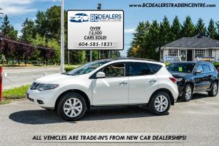 Used 2012 Nissan Murano SL AWD, Sunroof, Leather, No Declarations, Local, Low K! for sale in Surrey, BC