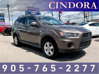 Used 2011 Mitsubishi Outlander ES, auto, A/C, Bluetooth, Leather Heated Seats for sale in Caledonia, ON
