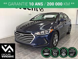 Used 2018 Hyundai Elantra GL ** GARANTIE 10 ANS ** Élégante, confortable et sécuritaire, elle a tout pour plaire! for sale in Shawinigan, QC