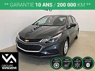Used 2017 Chevrolet Cruze LT TURBO ** GARANTIE 10 ANS ** Économique et pratique! for sale in Shawinigan, QC