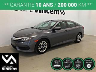 Used 2018 Honda Civic LX ** GARANTIE 10 ANS ** Bas kilométrage et fiabilité légendaire au rendez-vous! for sale in Shawinigan, QC