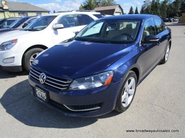 2015 Volkswagen Passat LOADED TSI EDITION 5 PASSENGER 1.8L - TURBO.. LEATHER.. HEATED SEATS.. POWER SUNROOF.. BACK-UP CAMERA.. BLUETOOTH SYSTEM..