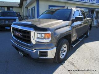 Used 2015 GMC Sierra 1500 WORK READY SL EDITION 6 PASSENGER 5.3L - V8.. 4X4.. CREW-CAB.. SHORTY.. TRAILER BRAKE.. CD/AUX/USB INPUT.. KEYLESS ENTRY.. for sale in Bradford, ON