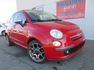 Used 2012 Fiat 500 LOUNGE CONVERTIBLE NAVIGATION CUIR MAGS for sale in St-Jérôme, QC