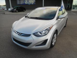 Used 2016 Hyundai Elantra 4dr Sdn Man L,RADIO AM/FM,PRISE AUX for sale in Mirabel, QC