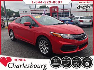 Used 2015 Honda Civic LX COUPE **62 144 KM** for sale in Charlesbourg, QC