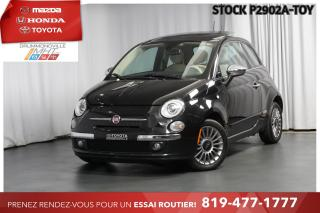 Used 2013 Fiat 500 LOUNGE| TOIT PANO| INTÉRIEUR ROUGE for sale in Drummondville, QC