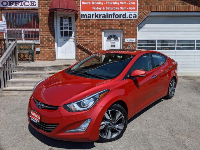 2015 Hyundai Elantra Limited Auto Sunroof Htd Lthr Nav Back Up Cam BT