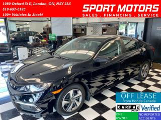 Used 2019 Honda Civic LX+Camera+Apple Carplay+New Tires+LKA+AccidentFree for sale in London, ON