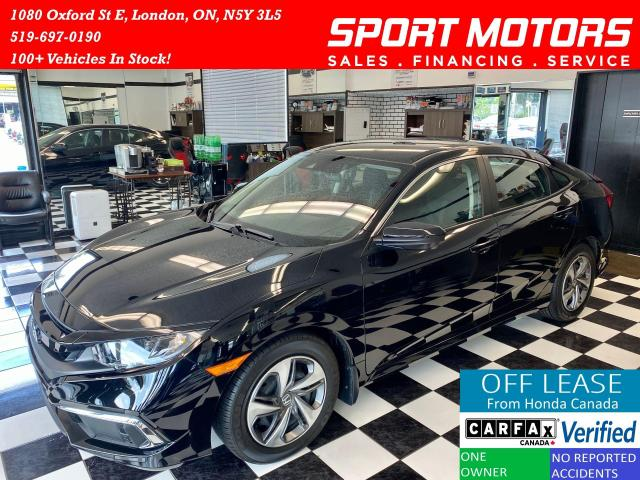 2019 Honda Civic LX+Camera+Apple Carplay+New Tires+LKA+AccidentFree