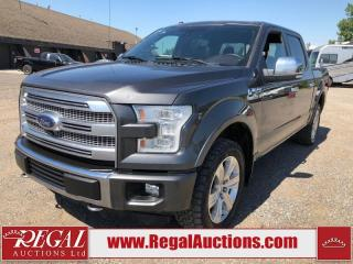 Used 2016 Ford F-150 PLATINUM 4D SUPERCREW 4WD for sale in Calgary, AB