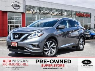 Used 2018 Nissan Murano Platinum   20 Alloy   Rear Heated   Bose   LED for sale in Richmond Hill, ON