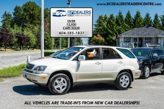 Used 1999 Lexus RX 300 V6 SUV, Local, Leather, Sunroof, Affordable and Safety Cert. for sale in Surrey, BC
