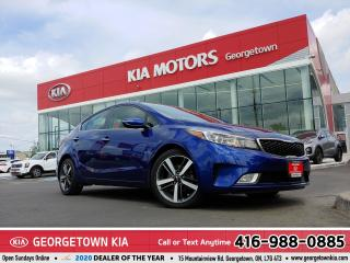 Used 2018 Kia Forte SX ACCDNT-FREE REMTE STRT LTHR NAV ROOF B/UP CAM for sale in Georgetown, ON