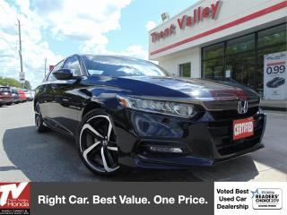 Used 2019 Honda Accord Sedan Sport 2.0T (1) Owner, 252 HP, 273 LB/FT Torque for sale in Peterborough, ON