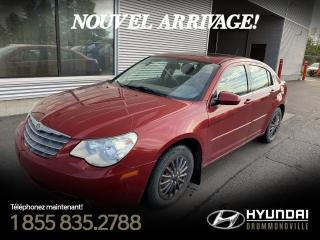 Used 2007 Chrysler Sebring TOURING + TOIT OUVRANT  + BAS KM + A/C + for sale in Drummondville, QC