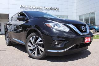 Used 2018 Nissan Murano Platinum ONE OWNER ACCIDENT FREE TRADE. FULLY LOADED PREMIUM PACKAGE MURANO.NISSAN CERTIFIED PREOWNED! for sale in Toronto, ON