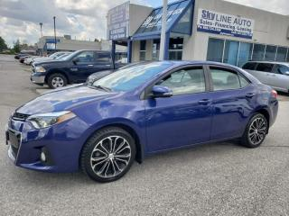 Used 2015 Toyota Corolla LEATHER|SUNROOF|ALLOYS|CAMERA|CERTIFIED for sale in Concord, ON
