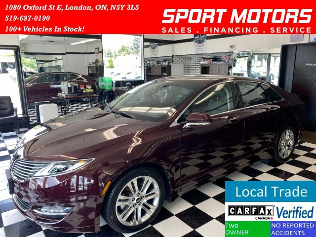 2013 Lincoln MKZ Hybrid+Camera+Leather+LOW KM+NewTires+AccidentFree
