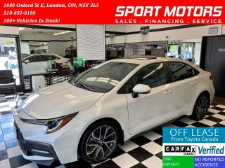 Used 2020 Toyota Corolla XSE+Tech Pkg+Sunroof+Wireless Charger+AccidentFree for sale in London, ON