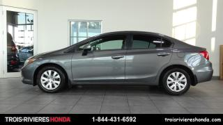 Used 2012 Honda Civic LX + VITRES TEINTEES + BLUETOOTH! for sale in Trois-Rivières, QC