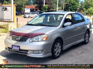 Used 2004 Toyota Corolla Sport|NO ACCIDENT|SUNROOF|BLUETOOTH|AS-IS for sale in Oakville, ON