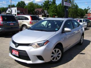 Used 2015 Toyota Corolla 6 SPEED,BLUETOOTH,AUX INPUT,CERTIFIED,No Rust for sale in Kitchener, ON