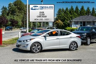 Used 2014 Hyundai Elantra Auto Limited, ONLY 99K, Local, Bluetooth, Leather, Sunroof! for sale in Surrey, BC