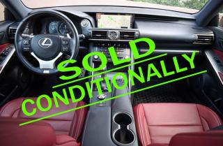 Used 2017 Lexus IS 300 AWD. RED INTERIOR. F SPORT 2. ONE OWNER. NO ACCIDENTS. for sale in Mississauga, ON